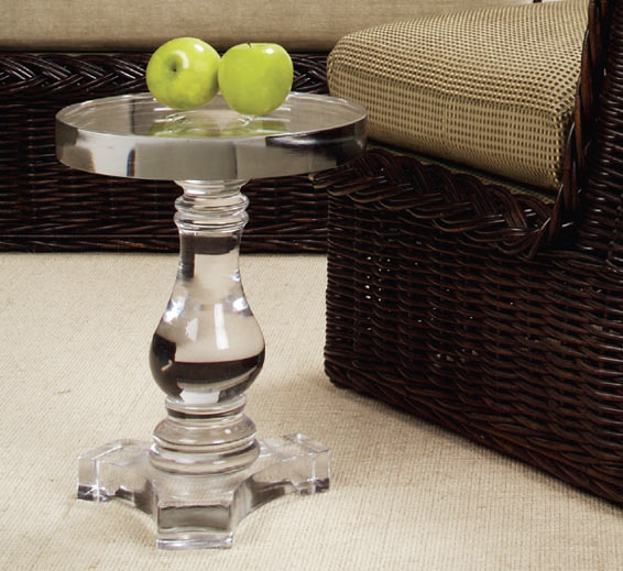 Baluster Table Glass Material Indoor Furniture The