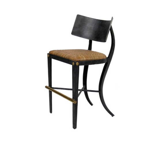 Excellent Klismos Bar Stool Brass Foot Rail Indoor Furniture The Inzonedesignstudio Interior Chair Design Inzonedesignstudiocom