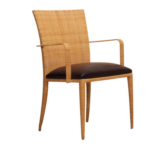 Arm chair iron material indoor furniture the wicker works
