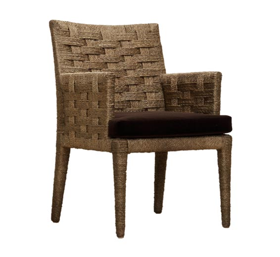 hopkins rope arm chair indoor furniture the wicker works