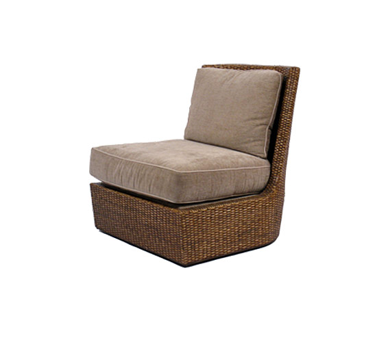 Palisades Slipper Chair Wicker Material Indoor Furniture The Wicker Works