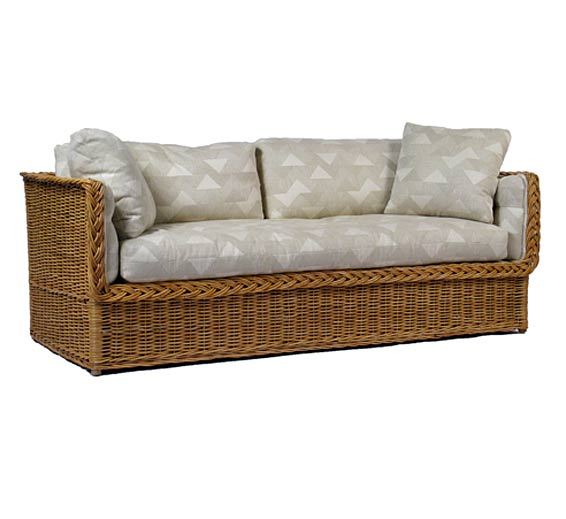 classic day bed sofa wicker material indoor furniture the wicker works. Black Bedroom Furniture Sets. Home Design Ideas