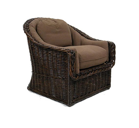 classic round back lounge chair wicker material indoor furniture