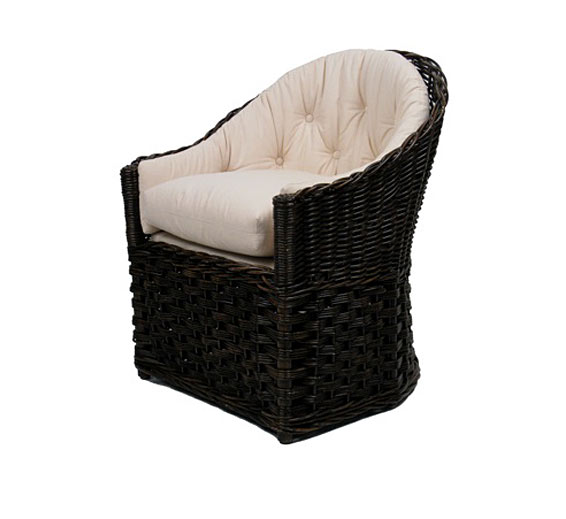 Classic lounge chair indoor furniture the wicker works