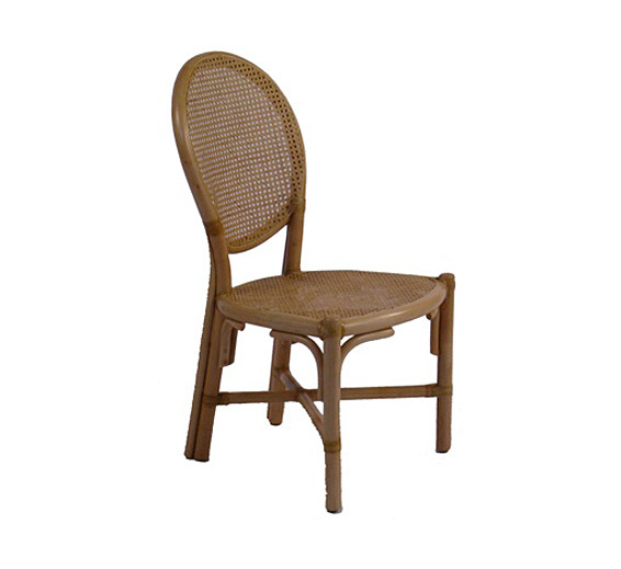 rattan oval back side chair dining chairs style indoor furniture
