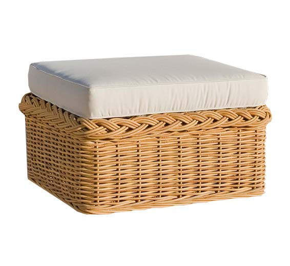 Chair Ottoman Wicker Material Outdoor Furniture The Wicker Works