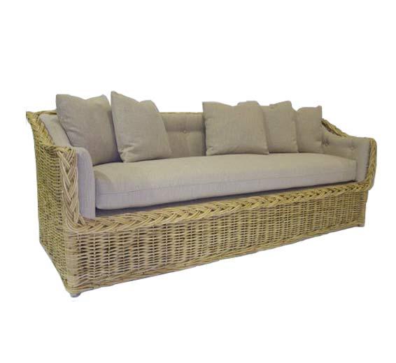 Sofa 82 quot wicker material indoor furniture the wicker works