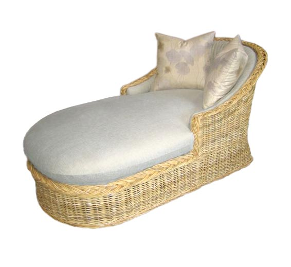 Classic Chaise Lounge Wicker Material Indoor Furniture The Wicker Works