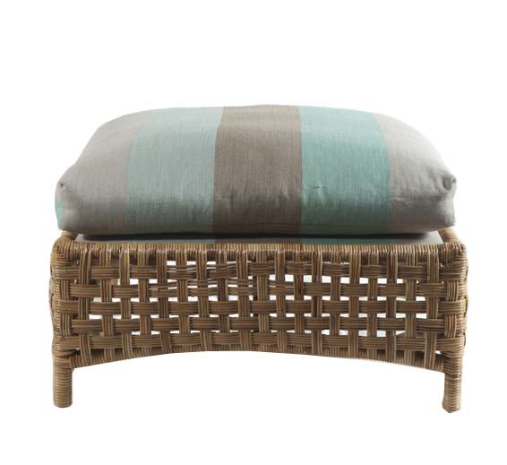 Brighton ottoman wicker material indoor furniture for Wicker and rattan indoor furniture