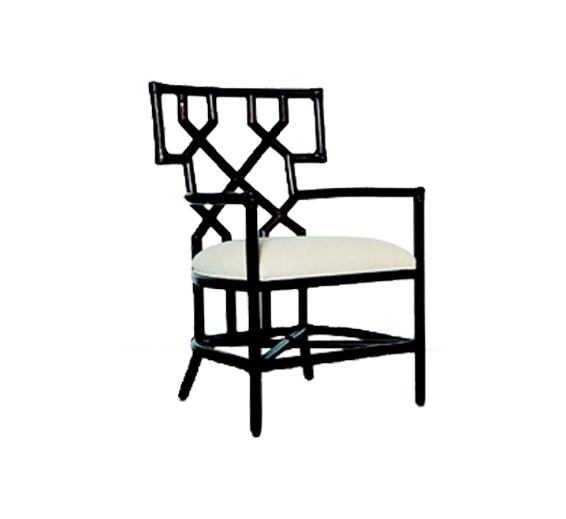 Santorini Dining Arm Chair Rattan Material Indoor Furniture The Wicke