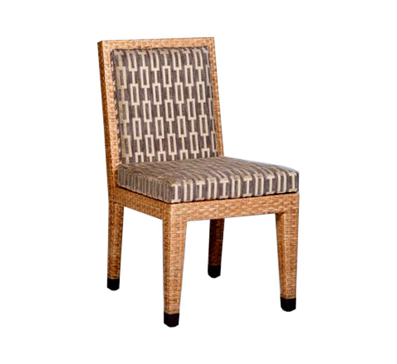 side chair wicker material indoor furniture the wicker works