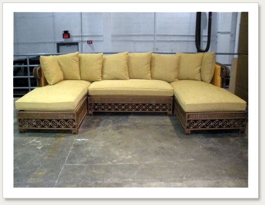 Custom wicker furniture